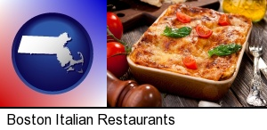 Boston, Massachusetts - an Italian restaurant entree