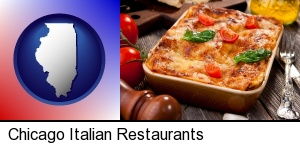 an Italian restaurant entree in Chicago, IL